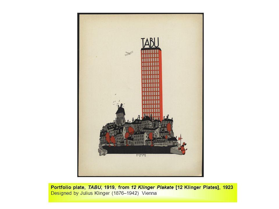 Portfolio plate, TABU, 1919, from 12 Klinger Plakate [12 Klinger Plates], 1923